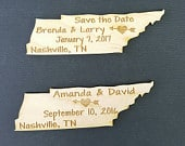 50 Save the Date Wedding Favor, Tennessee State Magnets Bride, Groom, Gift, Save the Date, Rustic, Custom, United States Magnets