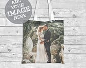 Personalized Photo Custom Tote Bag Gift Bag Momentos Anniversary Party Wedding Favor Fair Husband Wife Bride Groom Fiance Engagment Bachelor