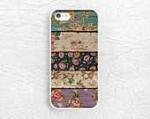 Colorful Floral pattern Wood print Phone Case for iPhone XR, iPhone 8, Sony Z5, LG G7, Nexus 5X, Samsung S8, Note 8, HTC One M9, Nexus 6P