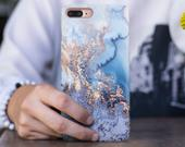 Blue Gold Marble Phone Case iPhone X Case iPhone 8 Plus Case iPhone 7 Plus Case iPhone 7 Cover iPhone 6 Plus Case iPhone 6S Cover RD1442