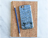 Blue Gold Phone Case, Stars Phone Case, iPhone 6S Case, Blue iPhone 7 Case Plus iPhone SE Case, Galaxy S7 Case S10 Note 9 iPhone X, iPhone 8