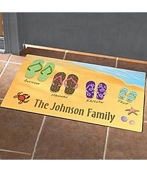 Personalized Flip Flops Doormat - 24X36