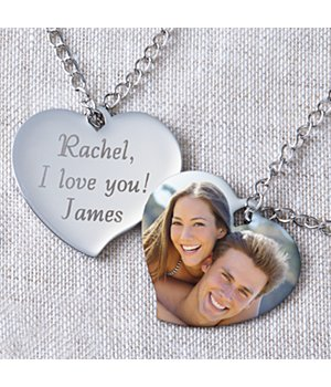 Personalized Heart Photo Necklace Wedding Anniversary Gift