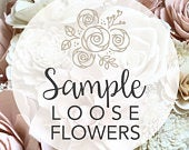 CUSTOM SAMPLE Loose Flowers Wooden Flower Bouquet Sola Flower Bouquet Wedding Bridesmaid Rustic Chic Classic