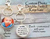 Dad Gift Key Chain, Fathers Day Gift Keychain for Father, Child Gift to Dad, Daddy Gift from Daughter, Gift for Him, Personalized Gift
