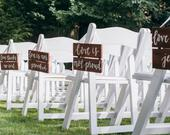 1 Corinthians 13 Handlettered Wedding Aisle Signs (set of 10)