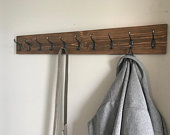 Wall mounted Entryway Coat Rack or Towel Rack, 3 hook colors, 18 finish options