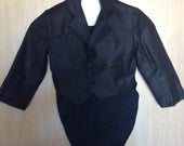 Finery for Young Boy OR Ring Bearer Jacket w/ Tails for 4 to 5 Yr Old Worn MidCentury by Sellers Husband Top Condition