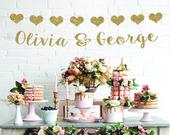 Wedding banner couples name banner bridal shower decorations wedding decorations sweetheart table decor wedding shower engagement party