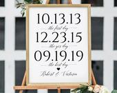 SALE!!! First Day, Yes Day, Best Day Custom Print. Our Love Story. Engagement Party Decorations. Wedding Decorations. Wedding Sign DIY word