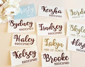 Custom name vinyl decal for wedding hangers, champagne glass , Bridesmaid champagne flute vinyPersonalized Wine Glass Decal. wedding party