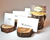 Rustic Place Card Holder, Wood slice Escort Card Holder, tree slice Table Numbers, Menu Card, Set of 10, table decor, centerpiece display