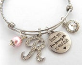 Step Mother Gift, Step Mother Bracelet, Step Mom, Thank you for loving me as your own, Step Mom of Bride, Adoption Bracelet, Foster Mom Gift