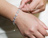 Cubic zirconia Bracelet, Gift for her A bride, Bridesmaids, Mother, Wife Classic Elegant Timeless Tennis bracelet Wedding Bridal Jewelry FAY