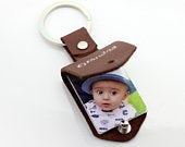 Personalized Unisex Photo Keychain Ring. Dad gift. Photo Keychain for mom. Fathers day gift. Gift for Mom. Fingerprint Keychain.
