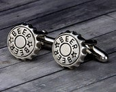 Beer Bottle Cap Cufflinks Beer Bottle Cap Cuff Links Handmade Mens Accessory Mens Gift Best Man Gift Fathers Day Gift for Him