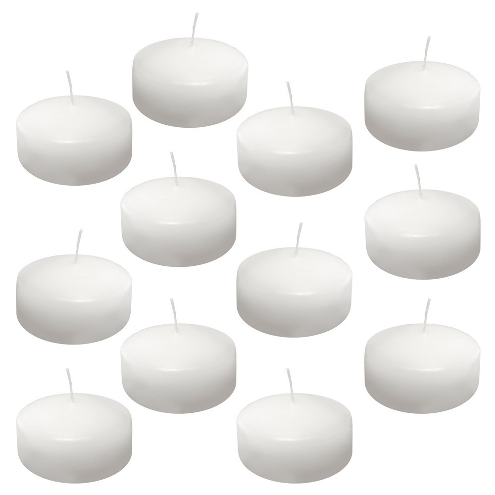 12ct Extra Large Floating Candles White