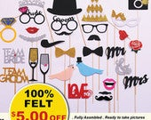 30 pc Wedding Photo booth Props for Wedding Party Bridal Shower Decorations