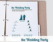 Printable Wedding Party Duties and Contact Information Printable Wedding Planner