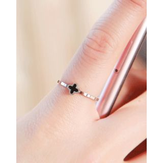 Clover Slim Stainless Steel Ring