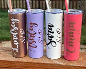 Personalized tumbler, Stainless Steel, CustomTumbler with Straw, speech pathologist, occupational therapist, physical therapist