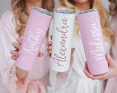 Bachelorette Tumblers with Straw, Bridesmaid Gift, Bridesmaid Proposal, Bachelorette Tumblers, Personalized Stainless Steel Tumbler