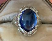 Layaway 5sold 14k Arts and Crafts Sapphire Snake Ring