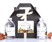 Fall Wedding Favor Box Set, Hotel Welcome Boxes, Autumn Wedding Stickers, Wedding Survival Kit Box wdiG335