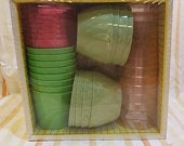 Lady Arnold 40 piece party pack leisure line was or toss Arnoldware Rogers inc. New in packaging Vintage 1970s ephemera plates cups bowls