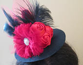 HALLOWEEN Witch Hat Fascinator, Black Red Mini Witch Hats, Witch Hat Costume, Photo Prop, Baby Flower Headband, Tea Party/ Derby Hat