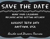 Chalkboard Confessions Shabby Chic Custom Design Save the Date Rustic Burlap Chalkboard and Wood Wedding Print at Home Invite and RSVP
