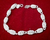 Elegant, Beautiful Bracelet, Accessory for Bride, Bridesmaids, Wedding, Mother, Grandmother, Hollow Beads Sterling Silver (BL17)