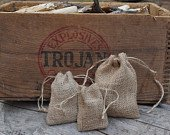 Burlap Bags with DrawstringFor Rustic Wedding Favors, Party Favors, Gift Packaging, or Herb Satchels Natural Jute Pouch Bags in 4 Sizes