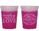 Fun Wedding Cups, Rustic Wedding Favors, Color Changing Cups, Custom Drink Cups, Fun Cups, Party Cups, Wedding Cups, Custom Cups, 1393