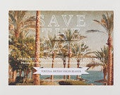 Save The Date Tortola British Virgin Islands, Beach Wedding Postcard