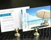 Destination Wedding, Beach Save the Dates, Engagment Postcard, Turquoise and Khaki Preppy Chic Save the Date Photo Postcard DEPOSIT