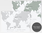 Destination Wedding Save the Date Template, Editable Map Save the Date Postcard, Map Save the Dates, Travel Save the Date, Templett Invite