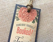 Tie the Knot Photo Vintage Hibiscus Wedding Save the Date Bookmark... SAMPLE