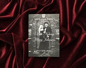 Engagement Picture Save the Date Wedding Save the Dates Halloween Save the Dates Halloween Wedding Black and White Save the Dates