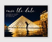 Save the Date Card Engagement Photo, Save Our Date, Elegant Save the Date
