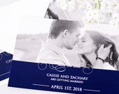 Formal Save The Date Cards 5 x 7 Wedding Announcement Cards Save The Dates Personalized Save the Dates Photo Cards satd157