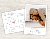 Postcard Save the Date Template, From July 2019 to DEC 2020, Save the Date Photo Printable, Photo Save the date, Modern Save the Date