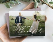 Editable Template Instant Download Forever Thankful Thank You Photo Card Post Card