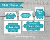 Custom Thank You Card,Photo Thank You,Monogram Thank You,Made To Match,Five Sizes,Five Styles,Personalize,Printed Cards,Envelope