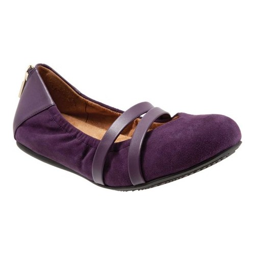 Women's SoftWalk Sierra Mary Jane, Size: 11 M, Royal Purple Suede