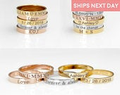 Personalized Ring For Women Gold Engraved Ring Custom Ring Gift for Mom Monogram Mothers Day Gift Ideas Mama Ring Popular Jewelry R4