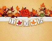FALL WEDDING BANNER, Save The Date Photo Prop, Fall Engagement Banner, Fall Engagement Garland, Fall Wedding Decor, Save the Date Banner