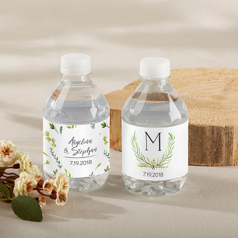 Personalized Botanical Garden Water Bottle Labels