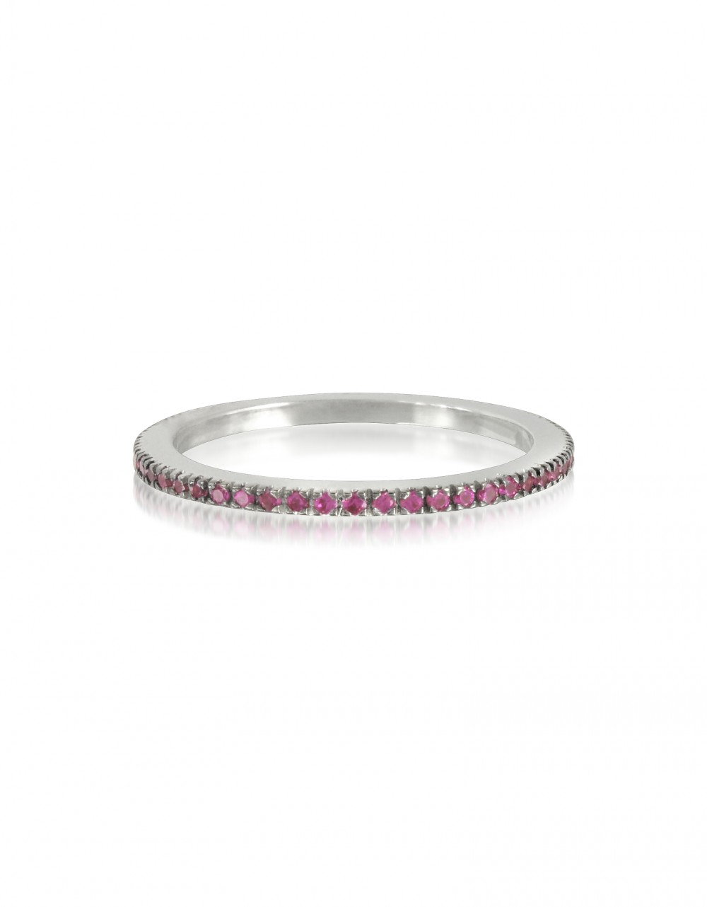 Forzieri Rings Natural Pink Sapphire Eternity Band Ring