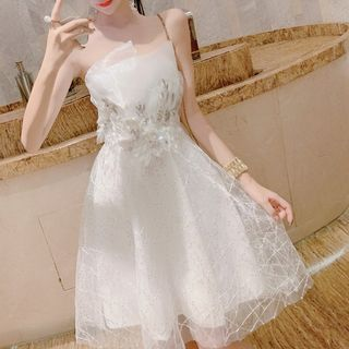 Strapless Lace A-Line Party Dress